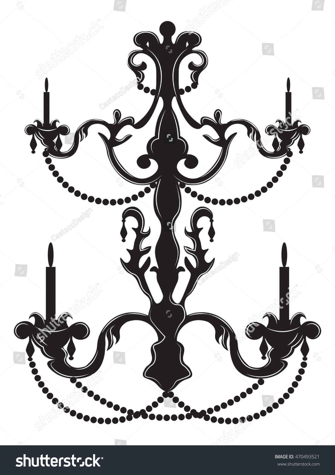 Rich baroque classic chandelier luxury decor stock vector rich baroque classic chandelier luxury decor stock vector 470493521 shutterstock arubaitofo Image collections