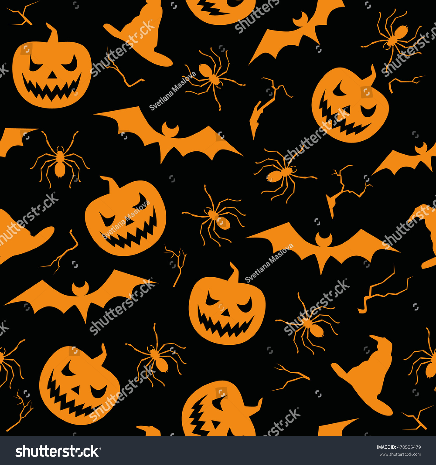 Download Wallpaper Halloween Spider - stock-vector-halloween-seamless-pattern-with-pumpkin-bat-and-spider-vector-black-wallpaper-470505479  HD_55312.jpg