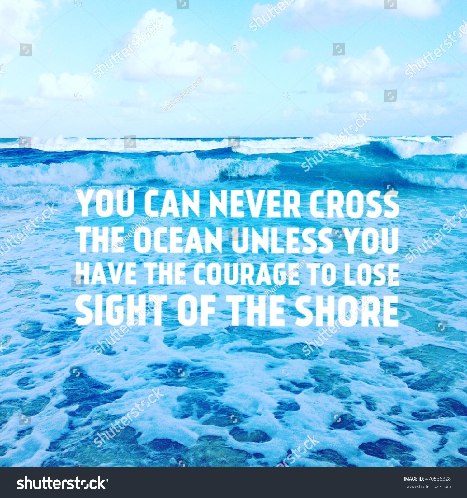 Scenic quotes daily inspirational quotations and sayings on - Inspirational Quote On Scenic Summer Blue Ocean Waves With Blue Sky Clouds And Horizon Background