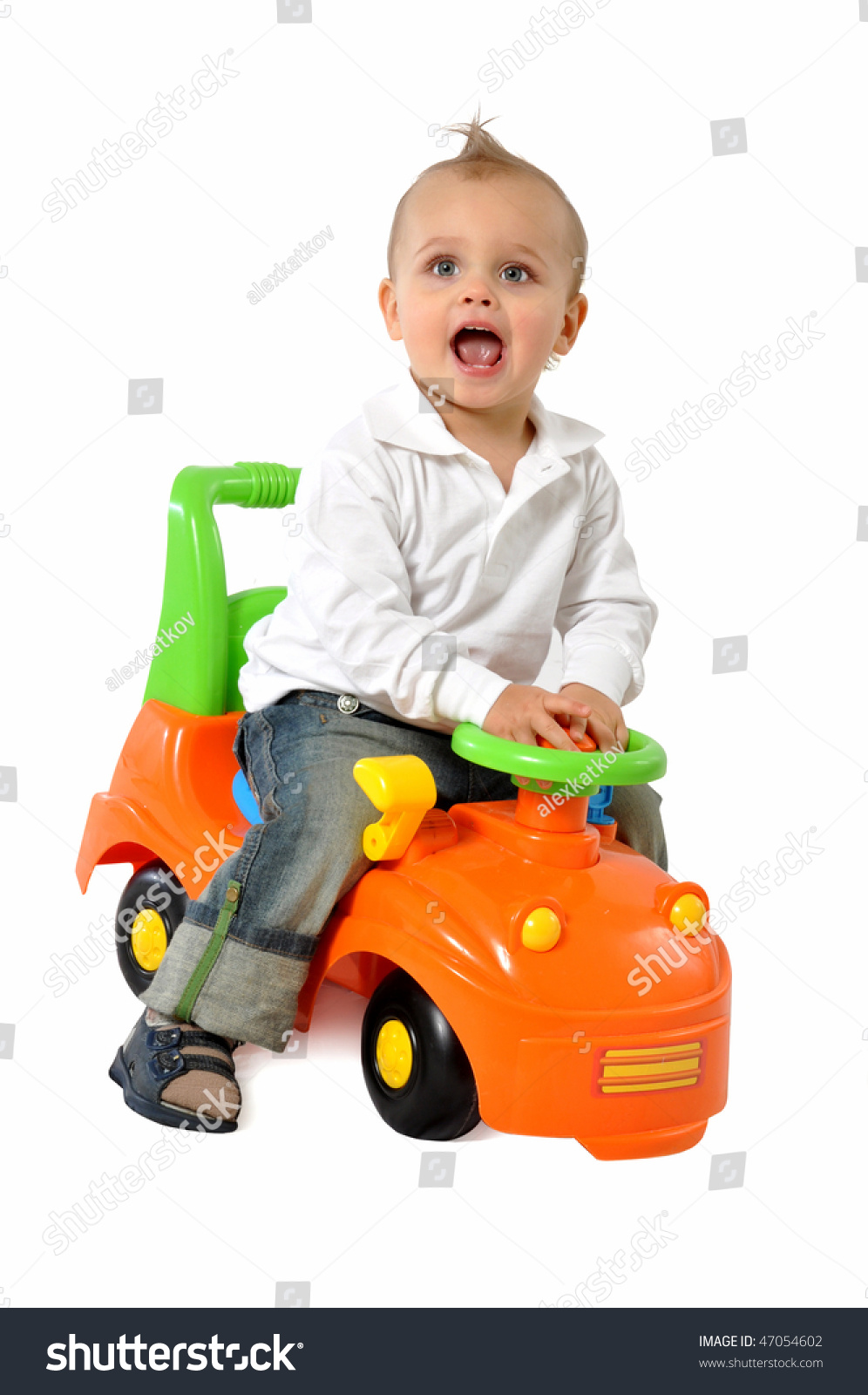 Baby Boy Toy Cars : Baby boy driving a toy car stock photo shutterstock