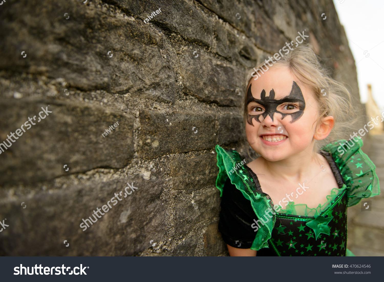 Girl Fancy Dress Halloween Costume Bat Stock Photo Edit Now 470624546