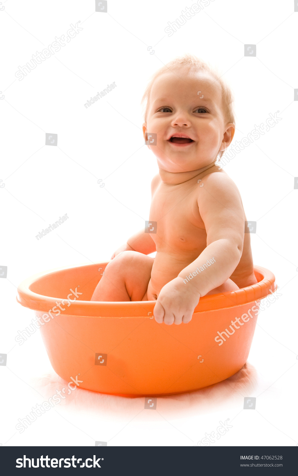 Cute Baby Having Bath Tub Isolated Stock Photo (Edit Now) 47062528 ...