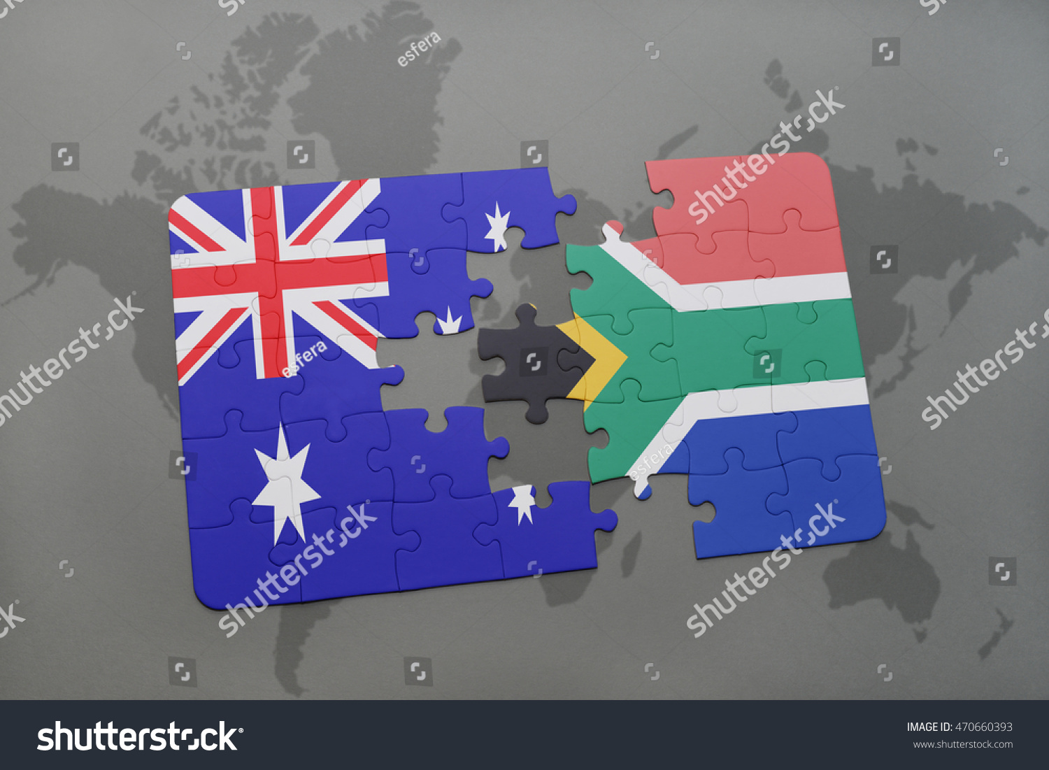 Puzzle national flag australia south africa stock illustration puzzle with the national flag of australia and south africa on a world map background gumiabroncs Choice Image