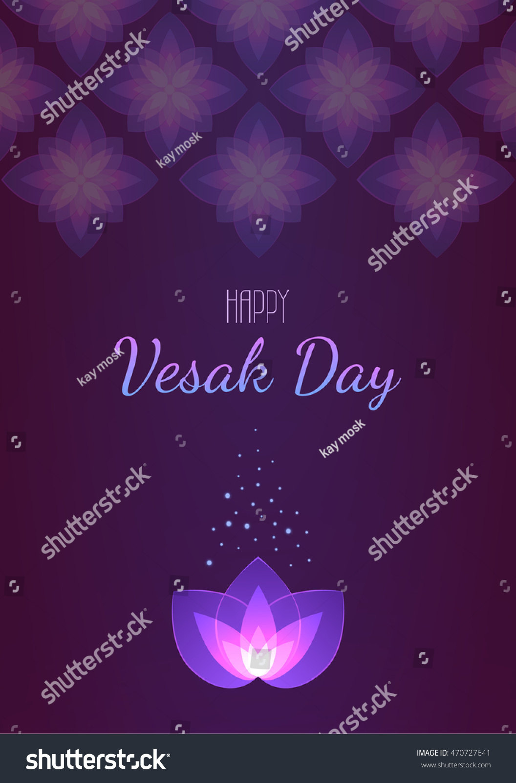Vesak Day Background Vertical Banner Vector Stock Vector Royalty