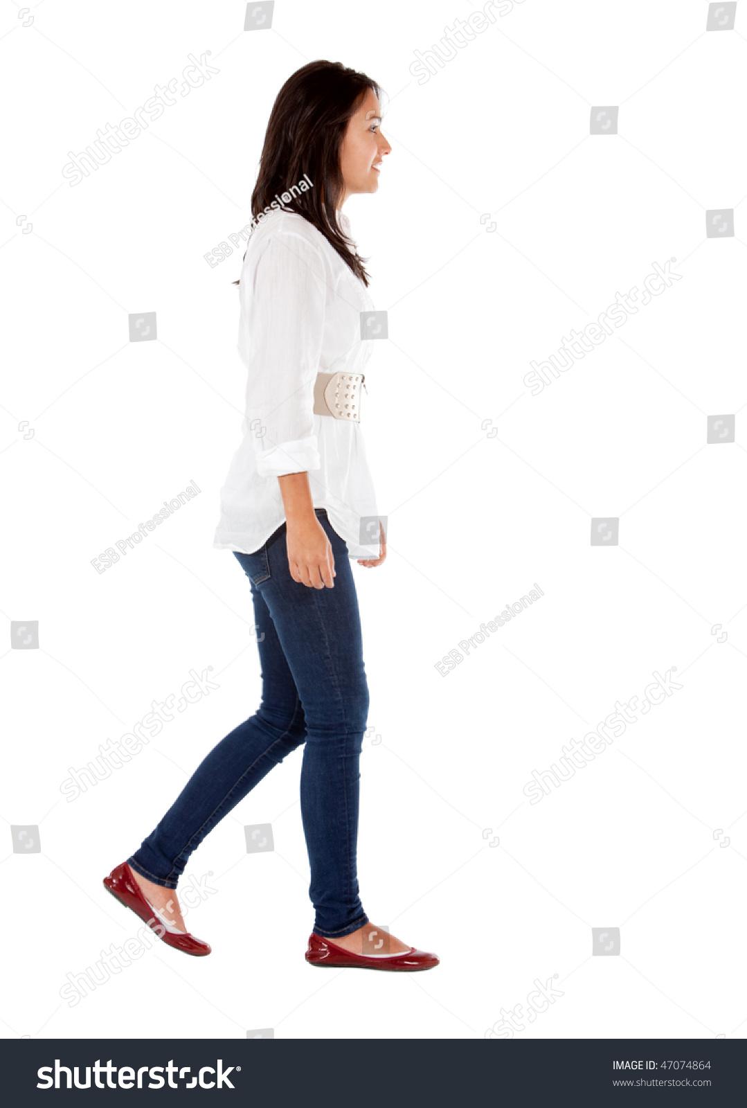 Фото девушек в полный рост боком