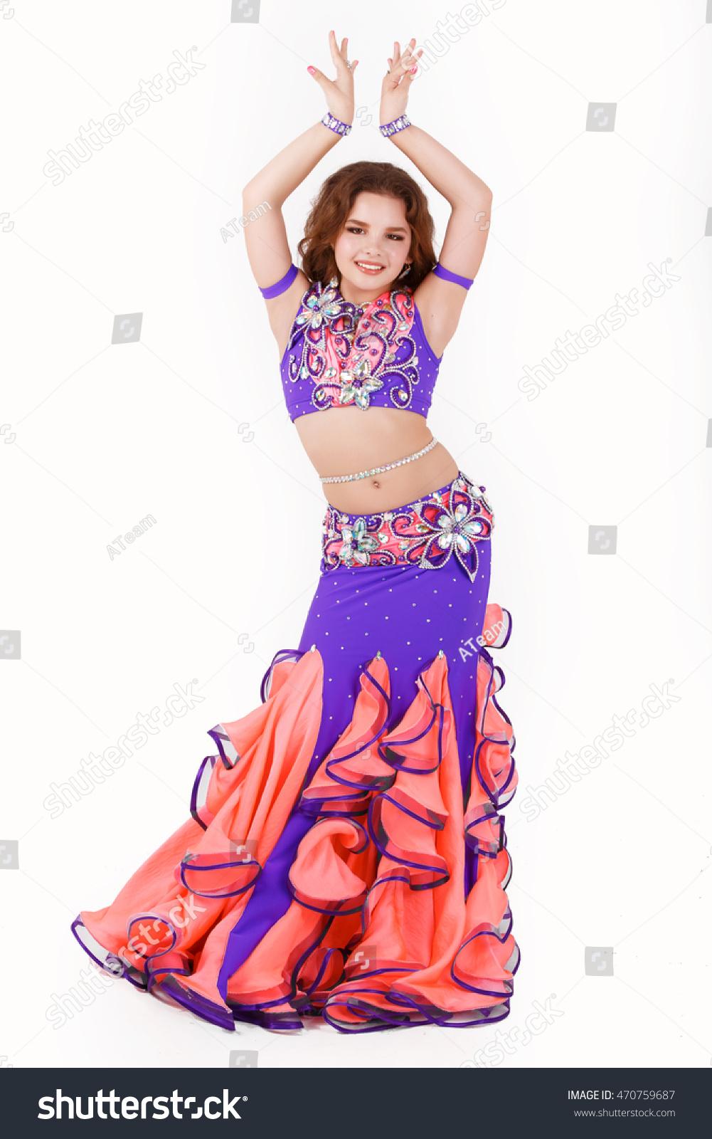 Beautiful Little Girl Belly Dancer Ballroom Stock Photo Edit Now