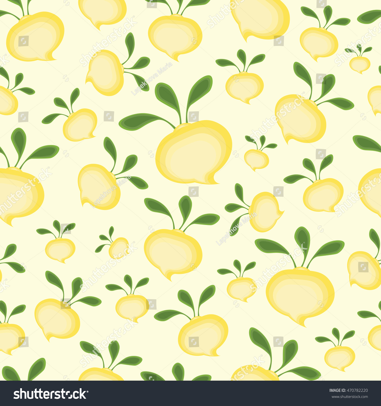 08082a2c2ab Background Abstract Cartoon Yellow Turnips Green Stock Vector ...