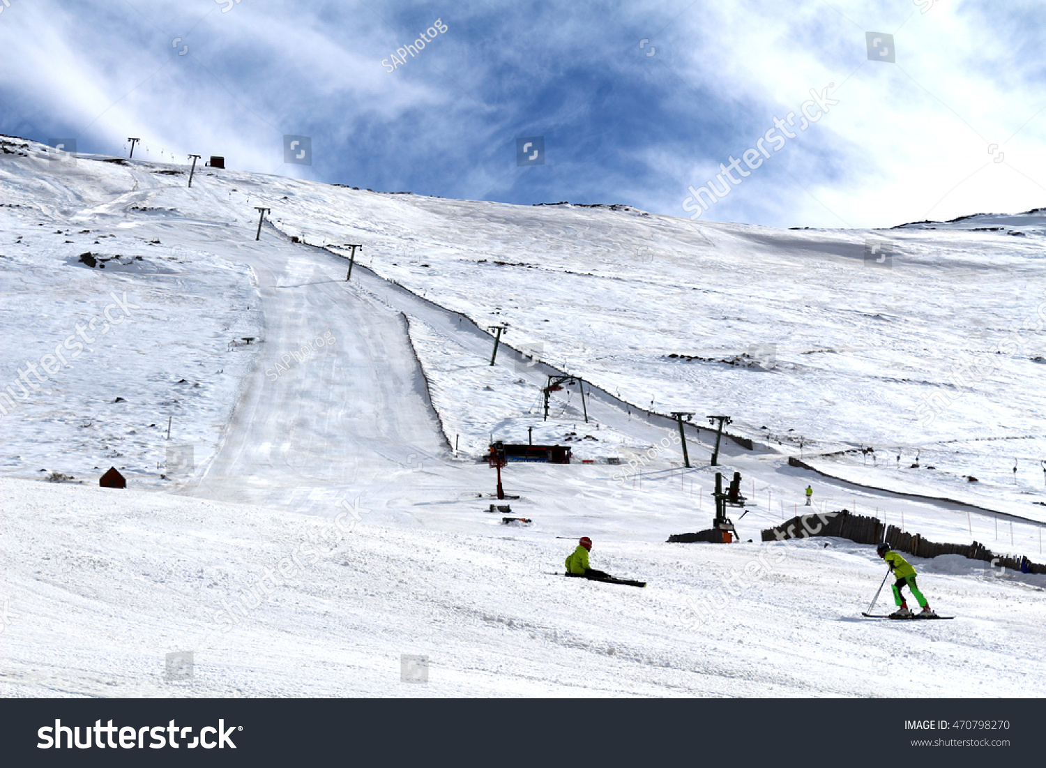ski slopes tiffindell south africas only stock photo (edit now