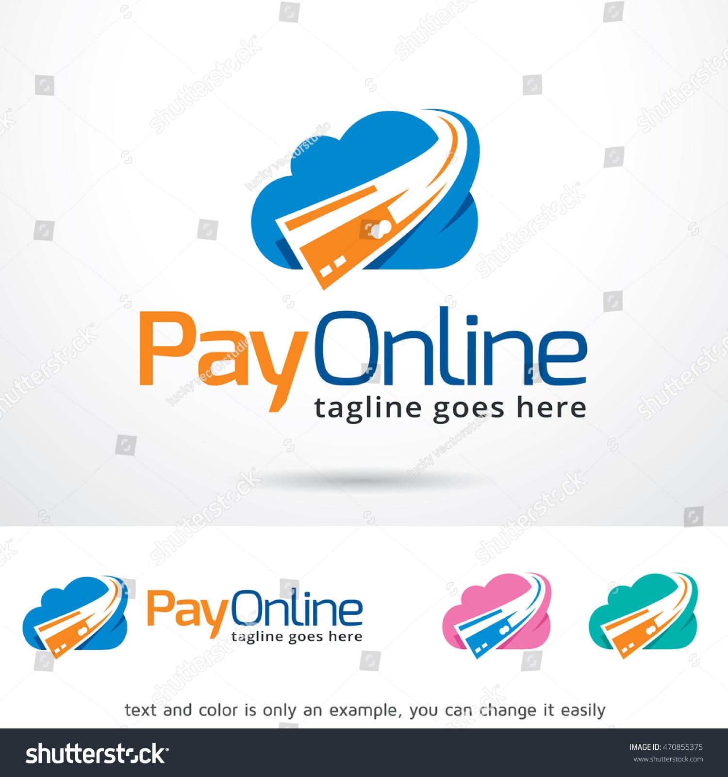 Pay Online Logo Template Design Vector 470855375