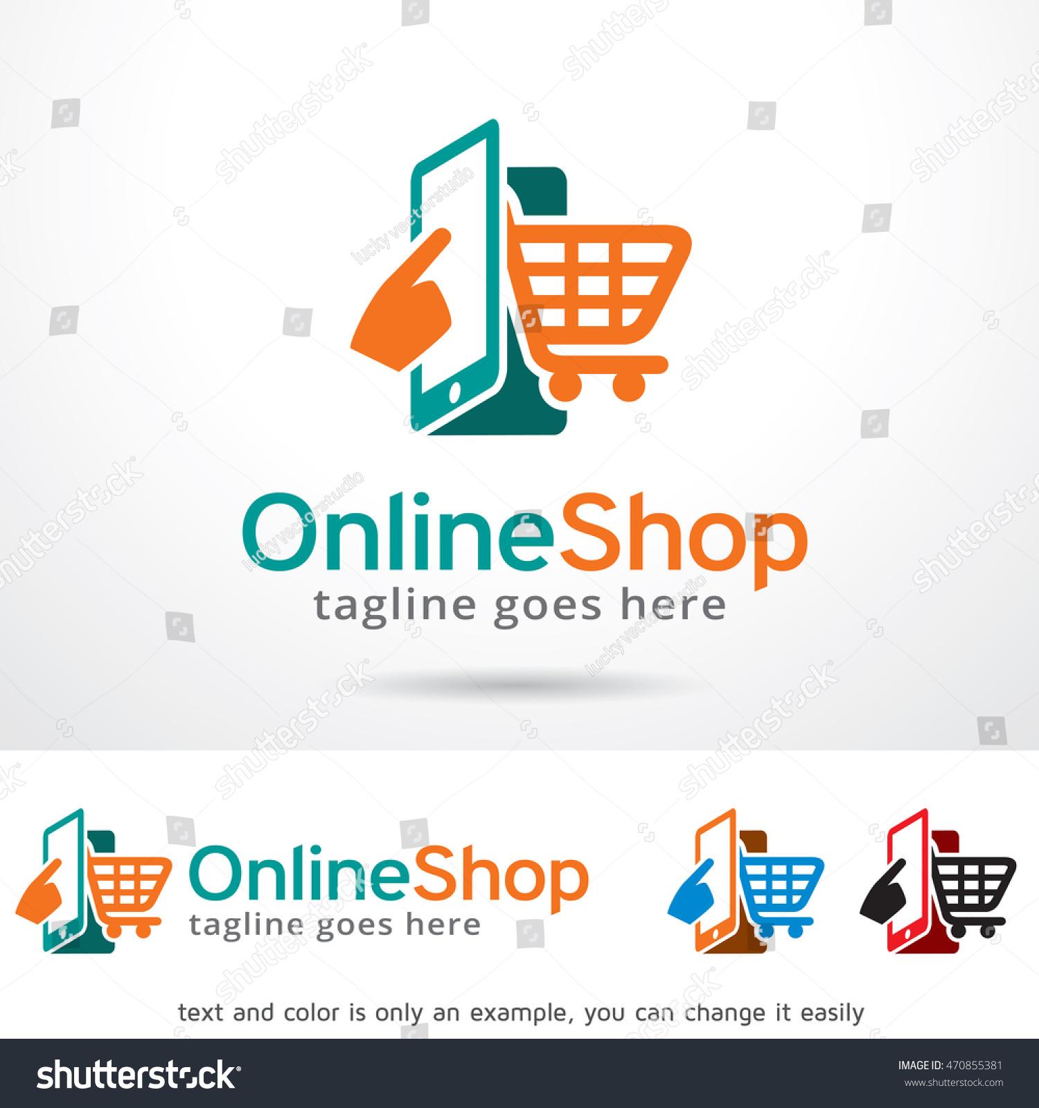 Online Shop Logo Template Design Vector Stock Vector Royalty Free