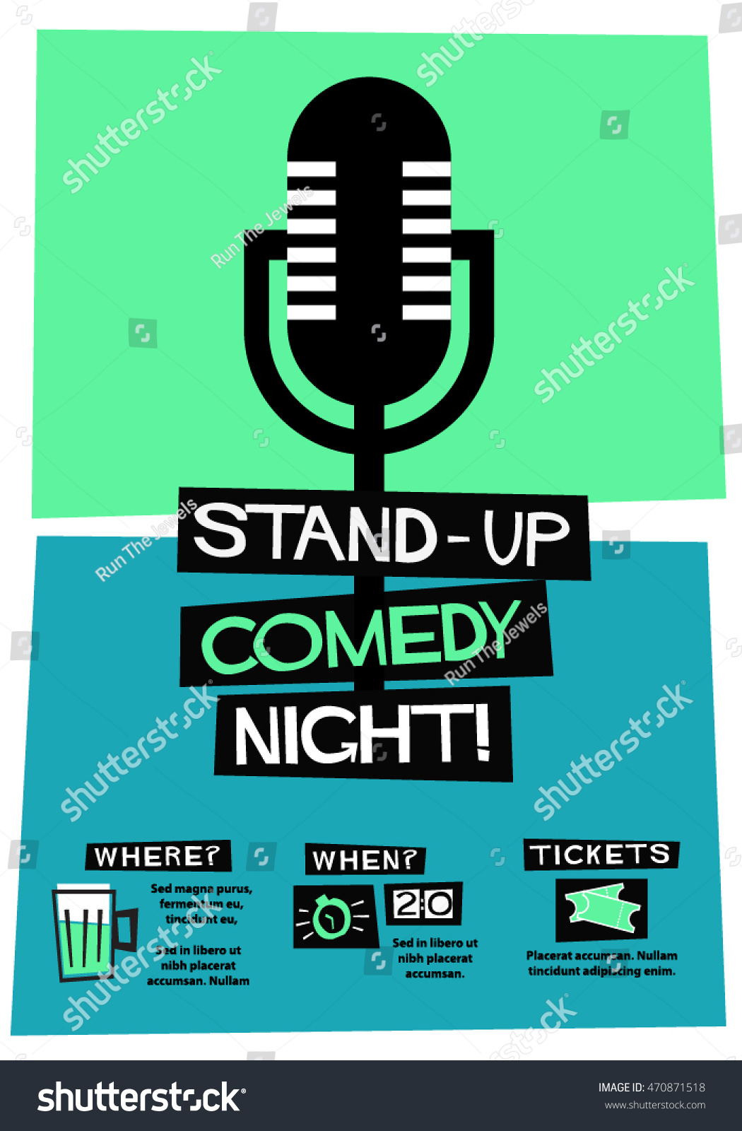 Sungard Exhibition Stand Up Comedy : Stand comedy night flat style vector stock