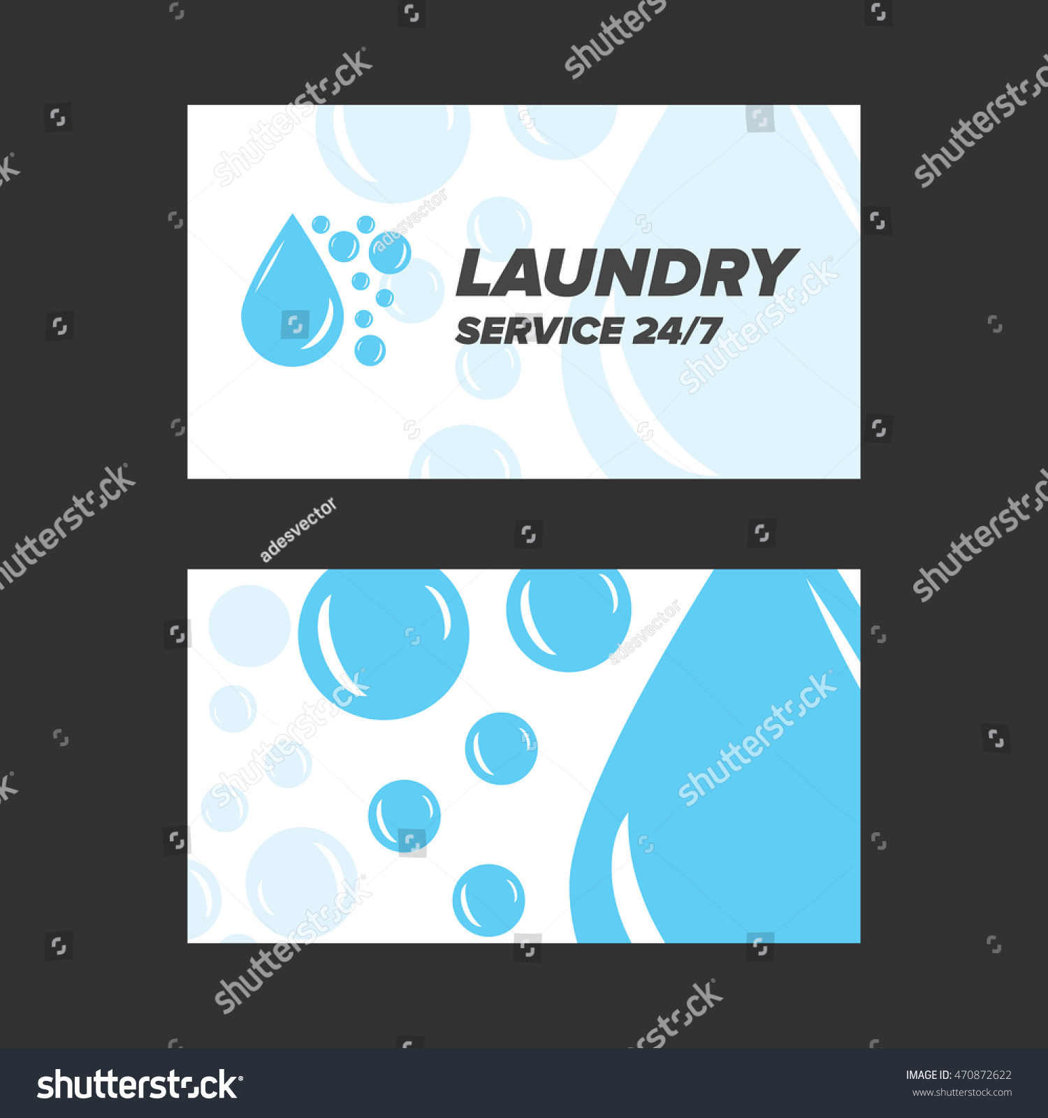 Blue laundry service business card stock vector 470872622 blue laundry service business card magicingreecefo Choice Image