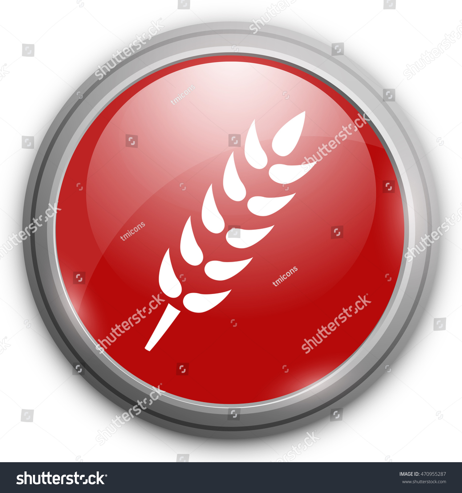 Gluten Free Icon No Gluten Stock Vector (Royalty Free