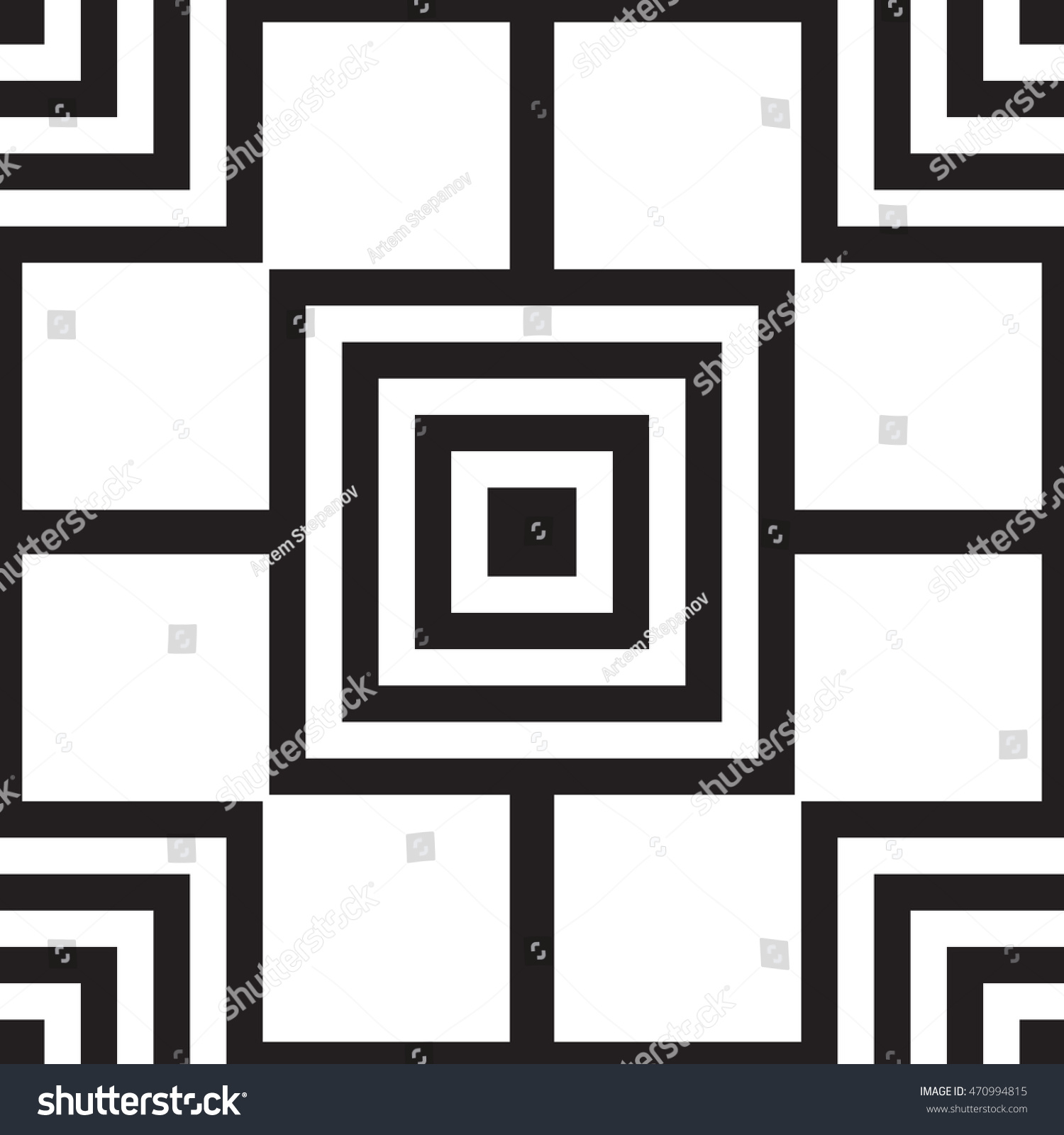 Geometric seamless pattern square rectangular elements for Object pool design pattern