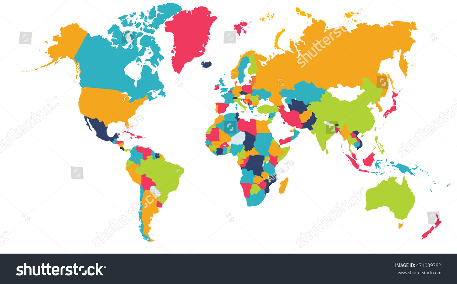 World Map Europe Asia North America Stock Illustration - World map asia