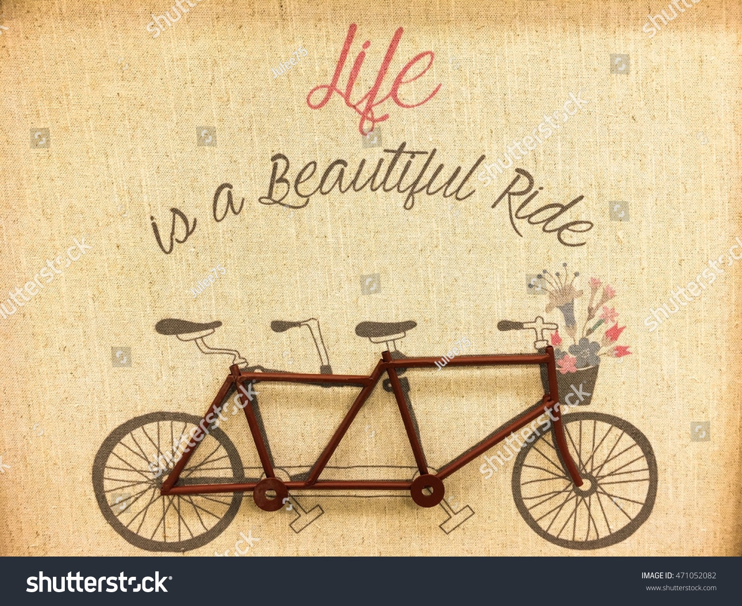 Quotes Old Bike On Sack Background Stock Photo (Edit Now)- Shutterstock