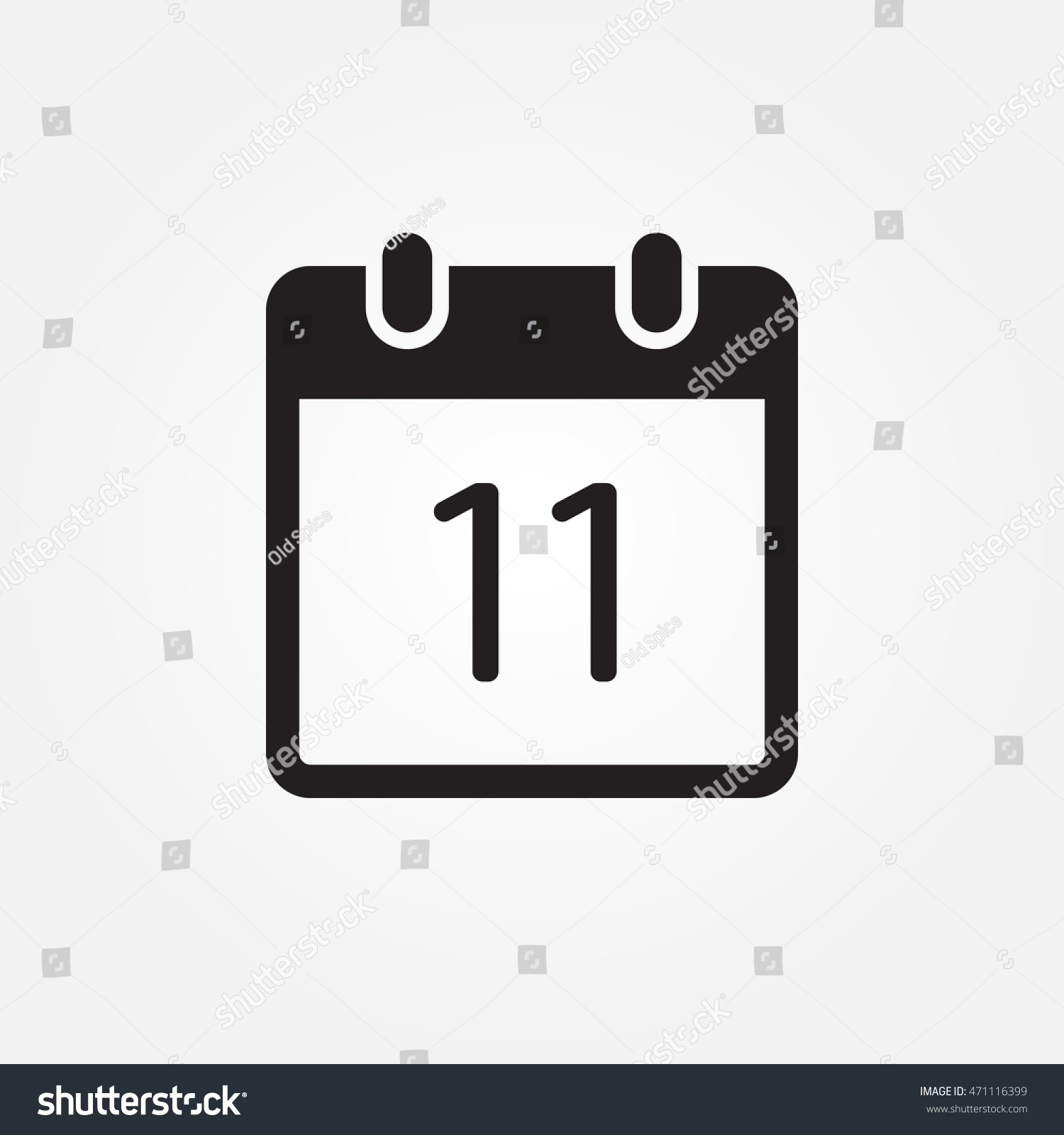 Calendar Vector Icon Stock Vector Royalty Free 471116399