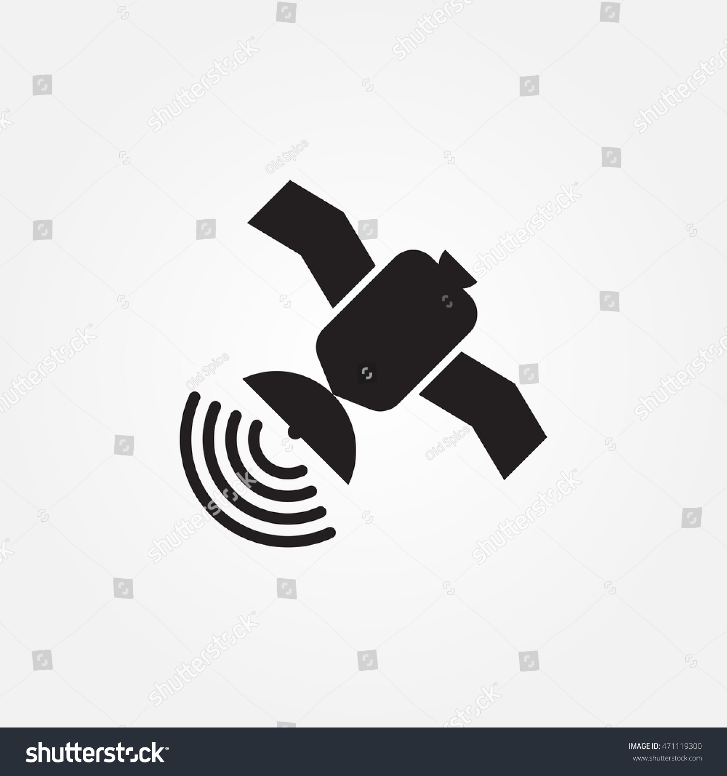 Sputnik Vector Icon Stock Vector Royalty Free 471119300 Shutterstock