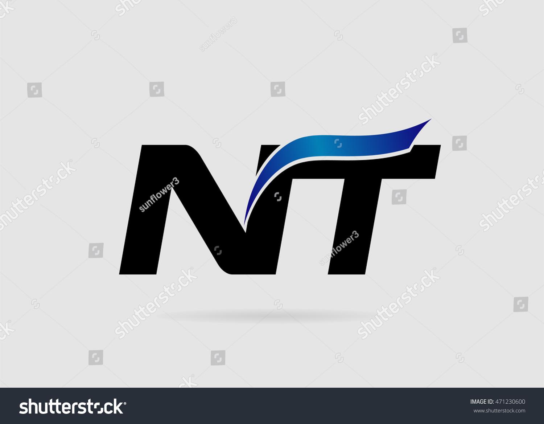 Letter Nt Logo Stock Vector Royalty Free 471230600 Shutterstock