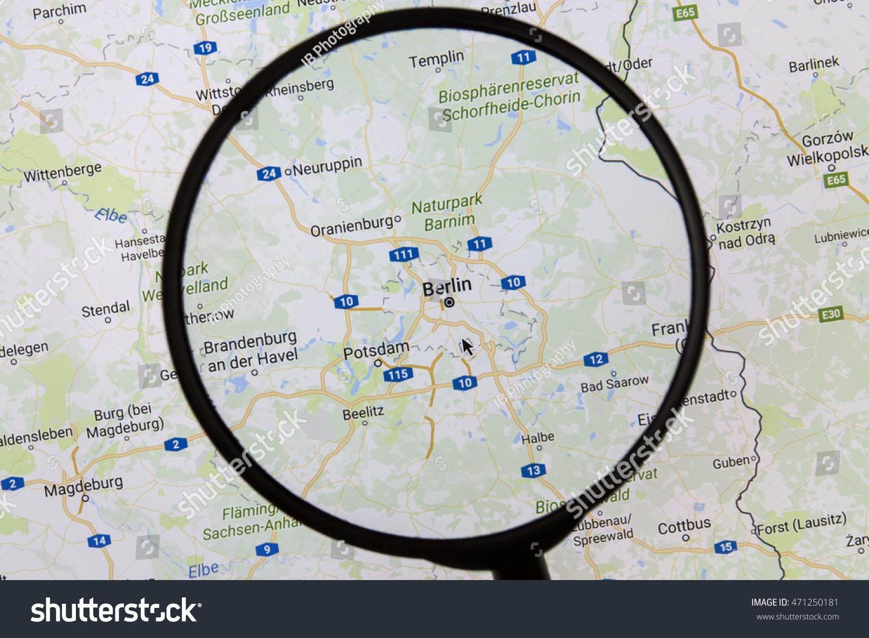 Ostersund Sweden Aug Berlin Stock Photo - Sweden map ostersund