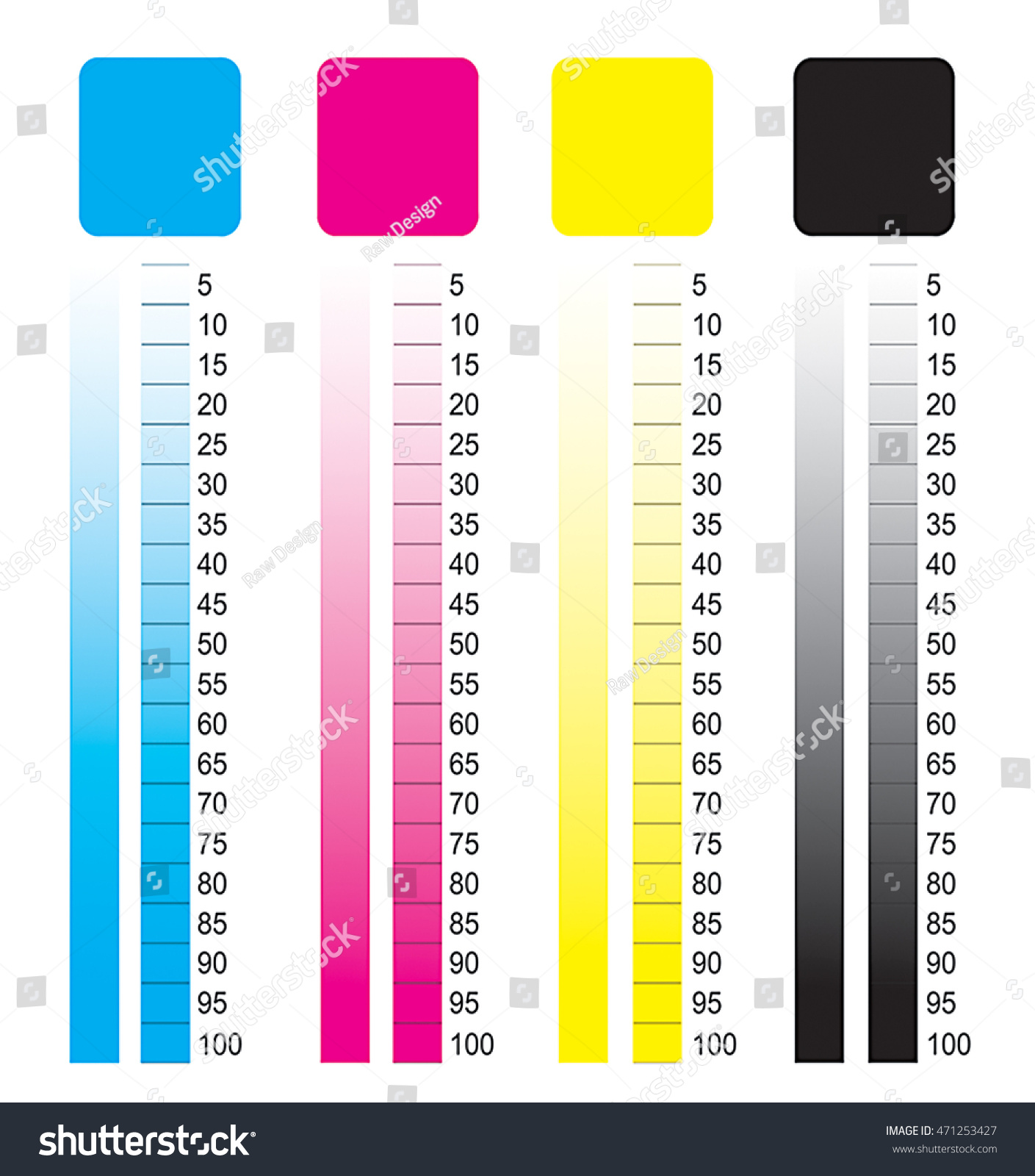 Cmyk Color Chart Stock Illustration 471253427 Shutterstock