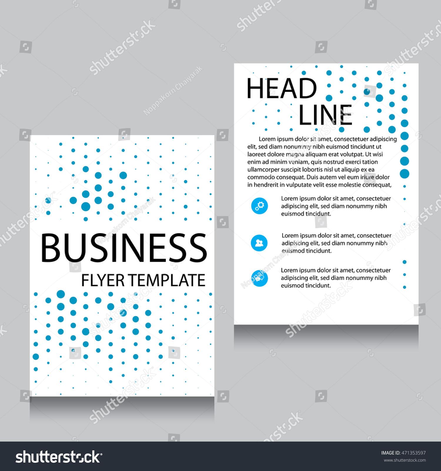 Vector Brochure Flyer Design Layout Template Stock Vector 471353597 ...