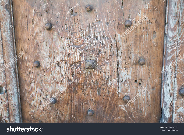 Old wood door with studs & Old Wood Door Studs Stock Photo 471399278 - Shutterstock pezcame.com