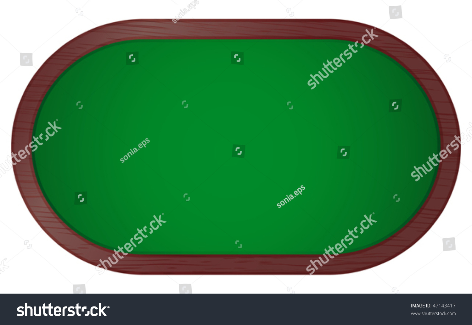 Poker table top view vector illustration of poker table 47143417