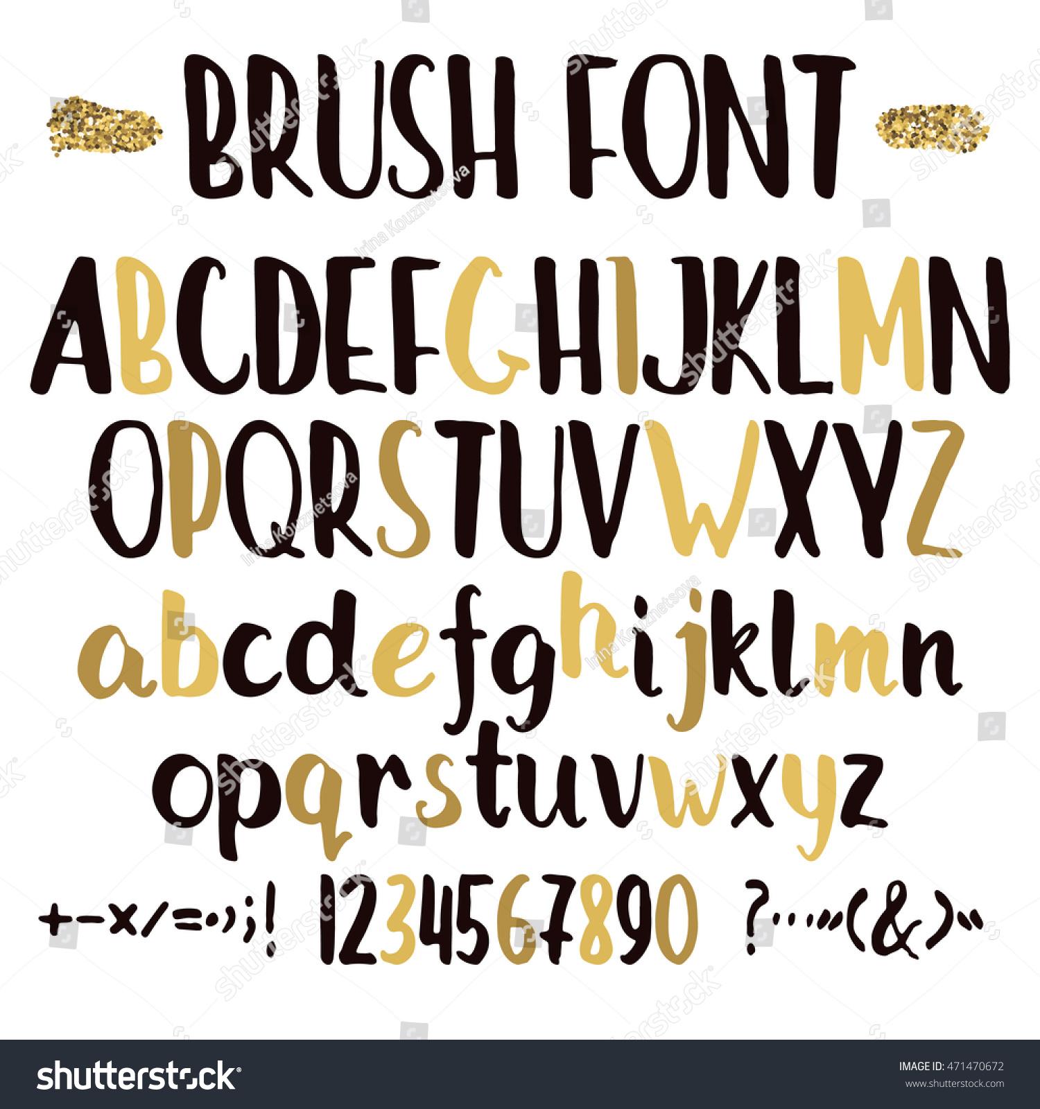 brush fonts alphabet best brush 2017
