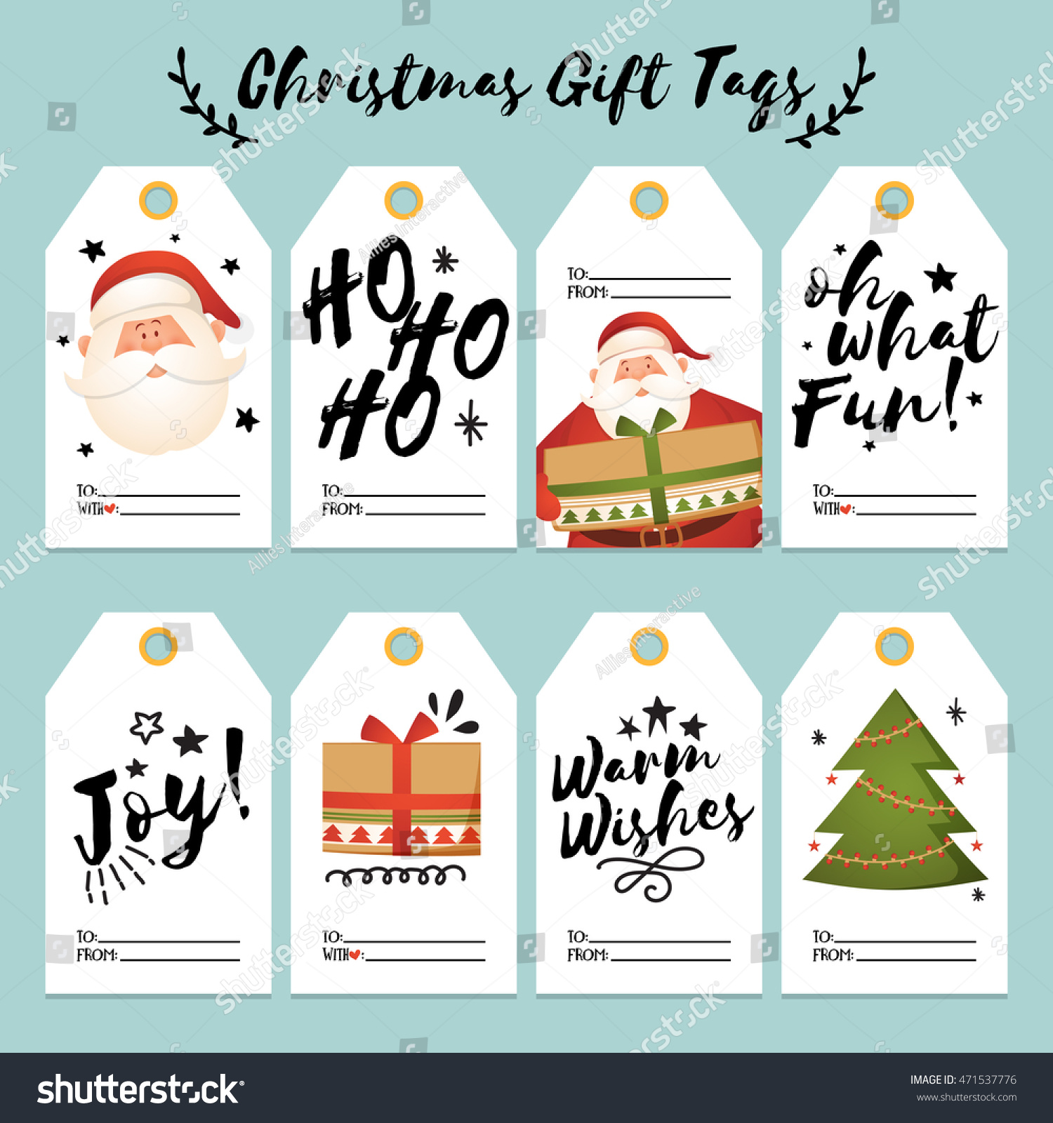 Set creative christmas gift tags labels stock vector 471537776 set of creative christmas gift tags and labels with space for your text merry christmas negle Gallery