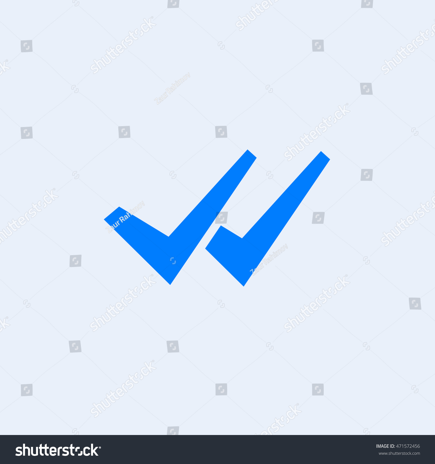 Whats App Delivered Message Icon Two Check Stock Vector Royalty