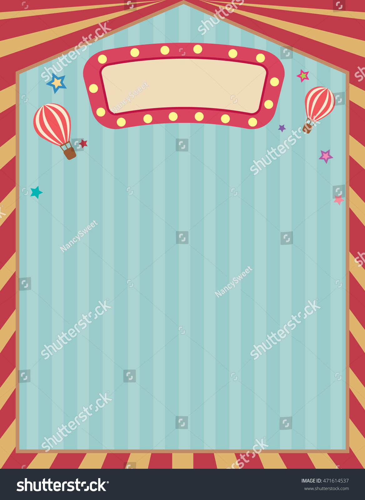 vector circus carnival template retro vintage stock vector (royalty