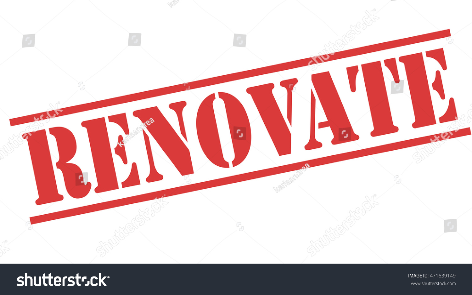 renovate red stamp text on white backgroundvector