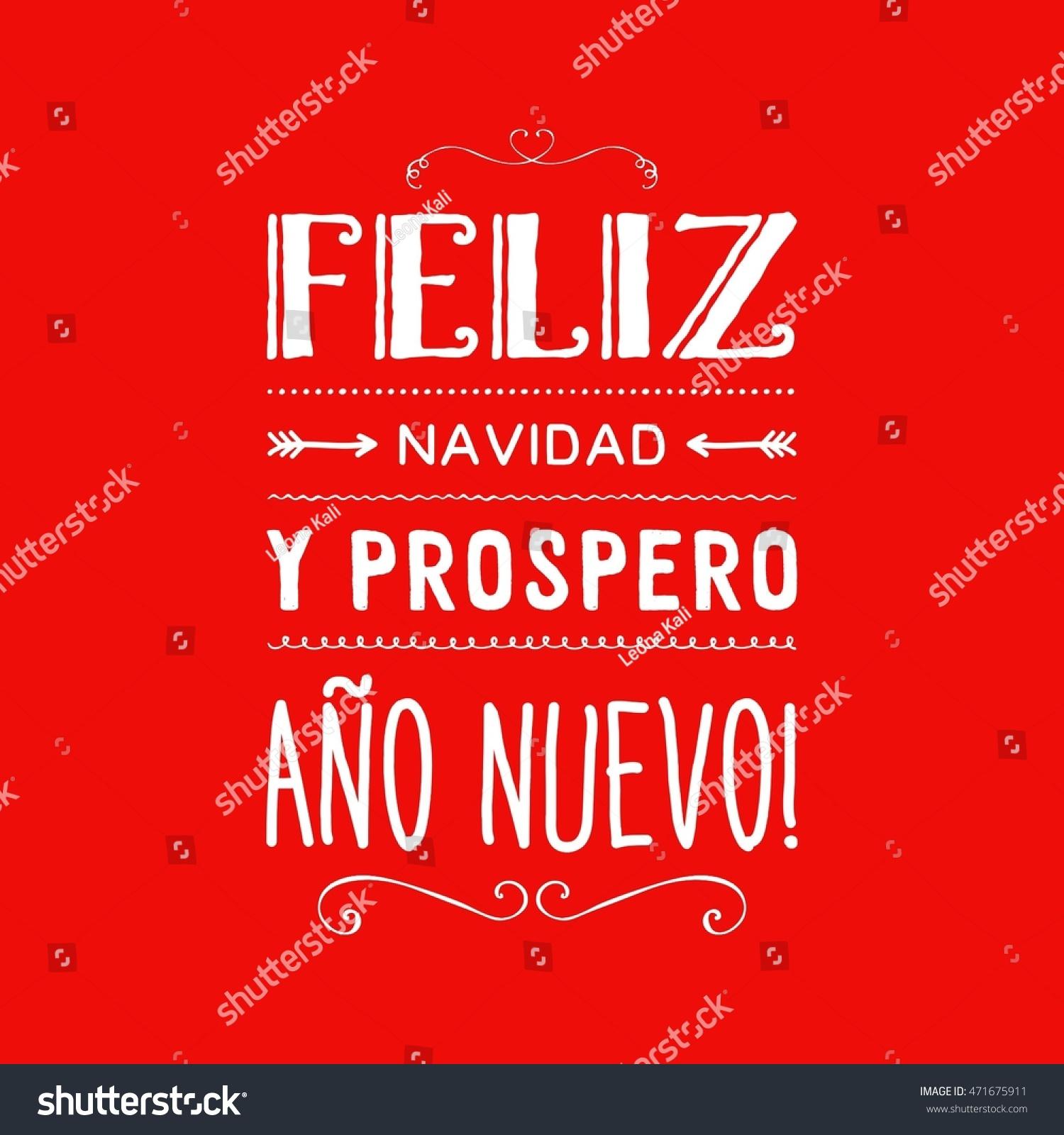 Merry christmas card template greetings spanish stock illustration merry christmas card template with greetings in spanish language feliz navidad y prospero ano nuevo kristyandbryce Images