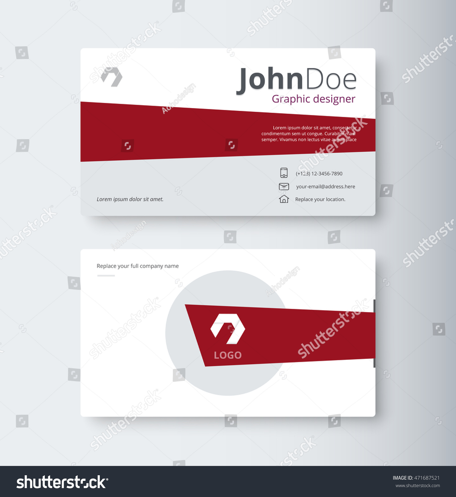 business contact card template design vector stock vector 471687521 shutterstock. Black Bedroom Furniture Sets. Home Design Ideas