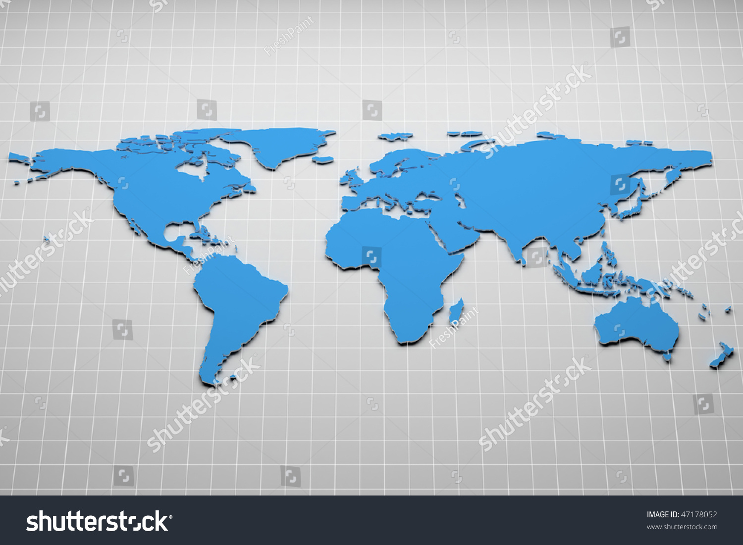 World map on grid 3 d illustration stock illustration 47178052 world map on the grid 3d illustration gumiabroncs Gallery