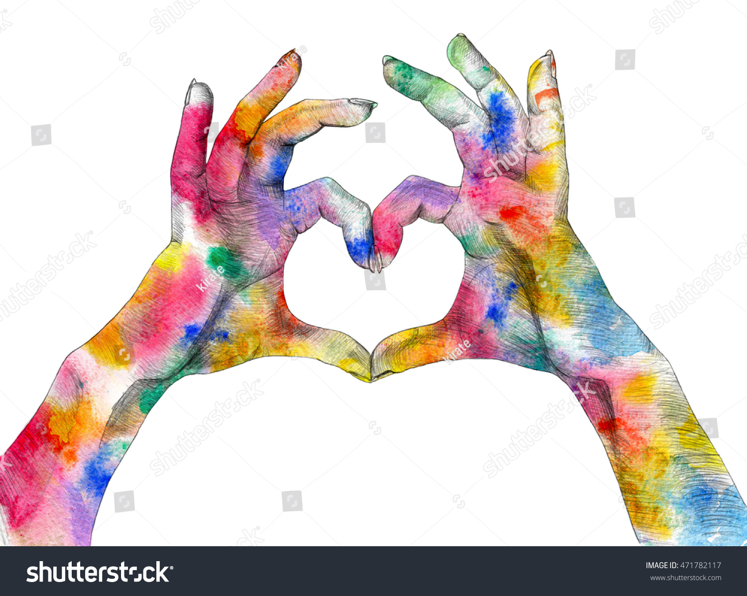 Royalty free stock illustration of festival holi poster hands making