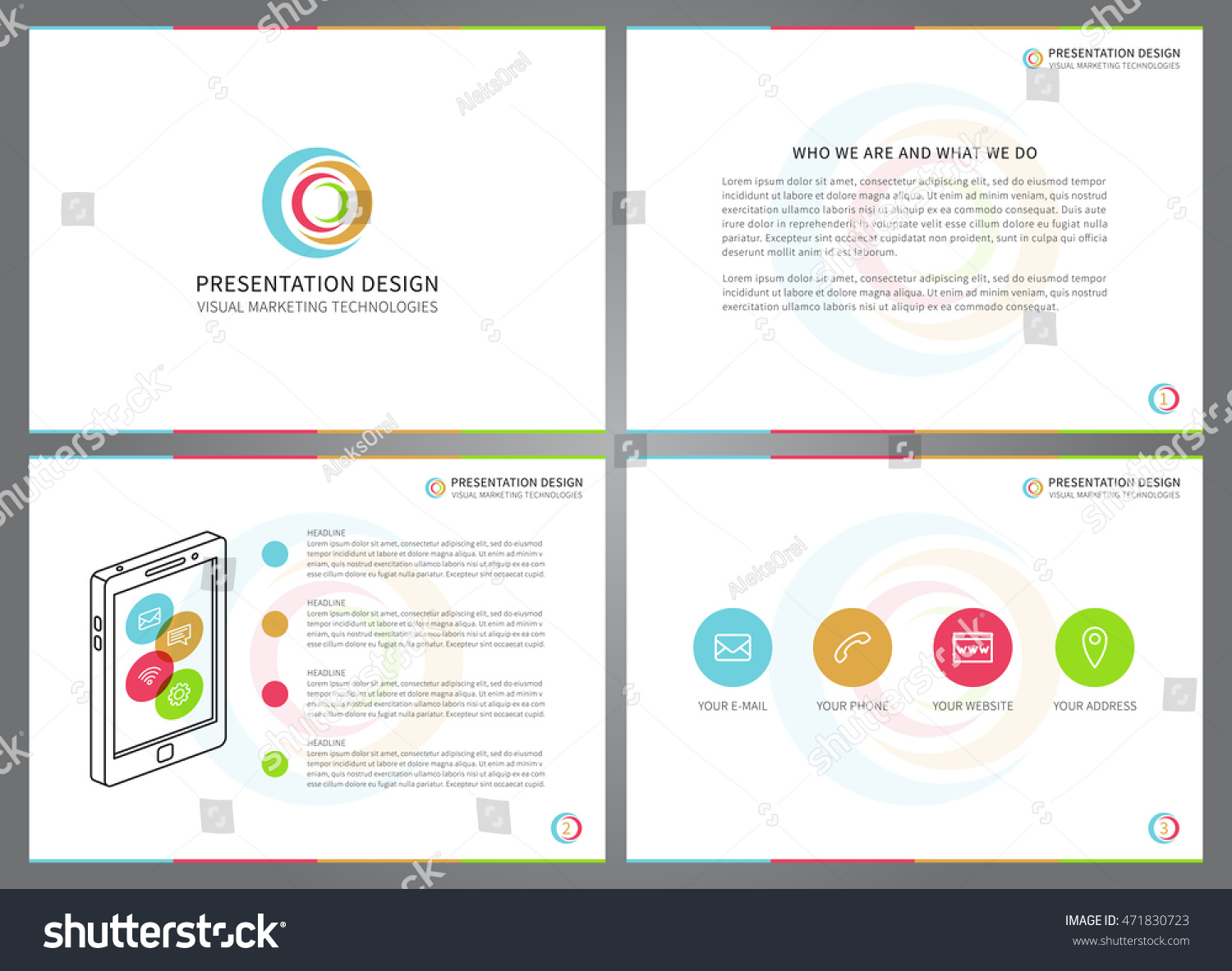 Presentation Vector Layout Corporate Documents Annual Vector – Proposal Cover Page Design