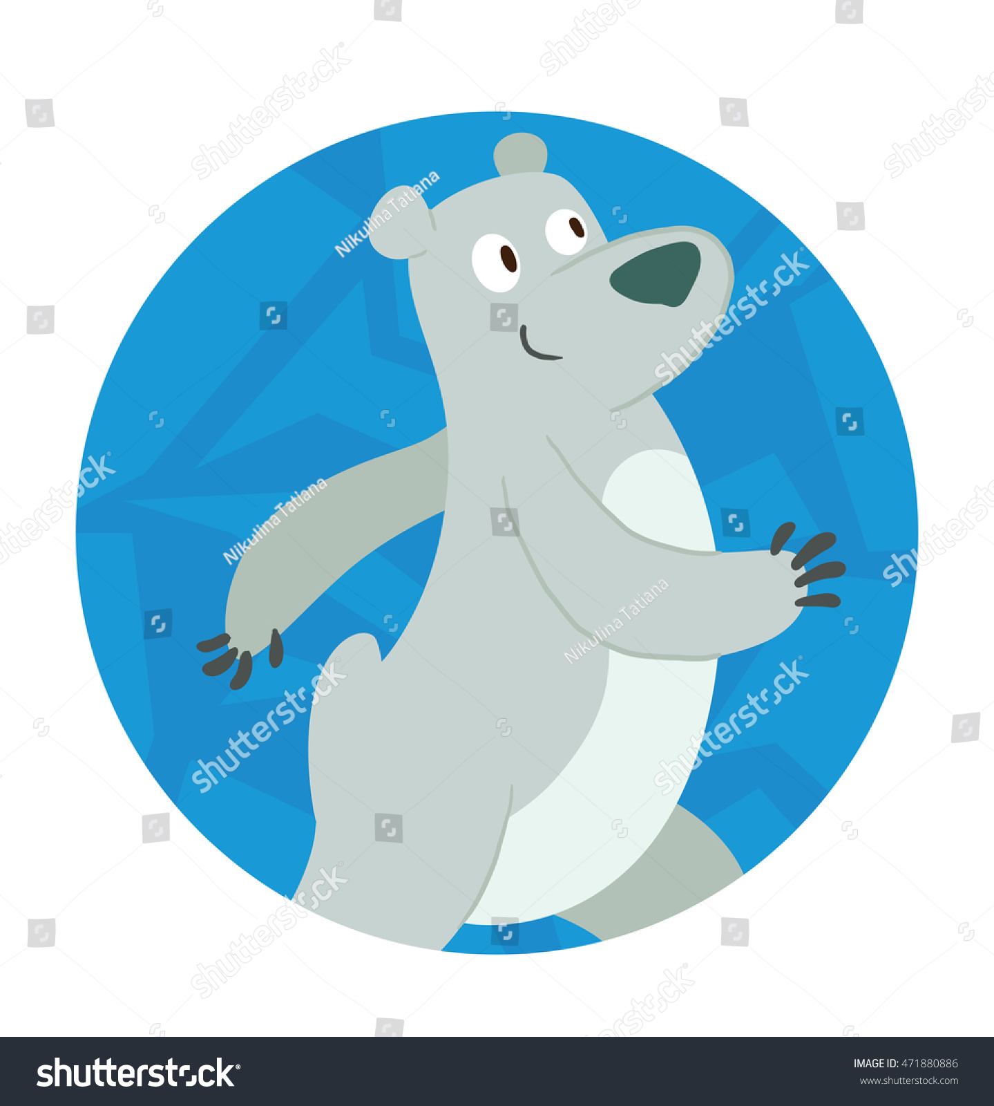 Vector Blue Round Ice Frame Cartoon Stock Vector 471880886 ...