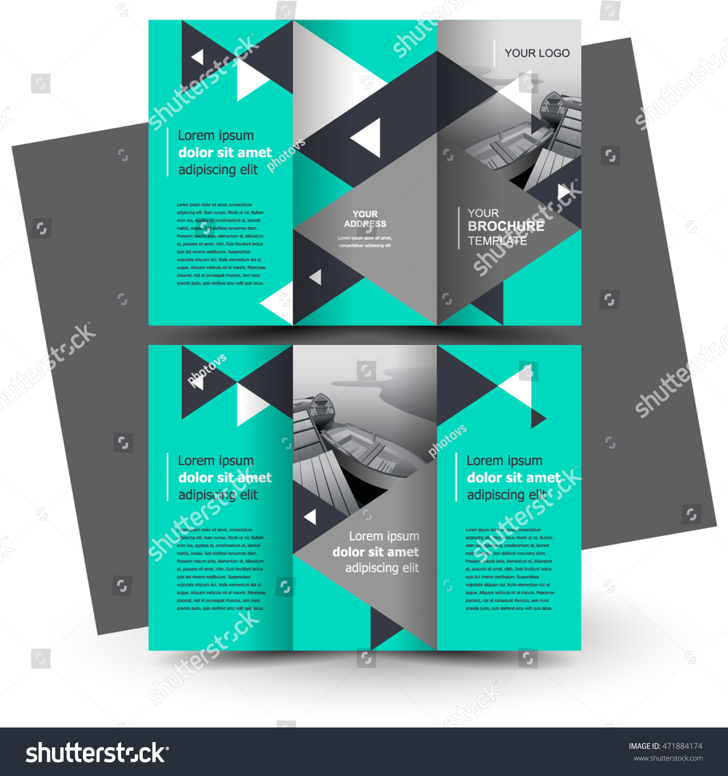 business brochure design template creative tri fold trend brochure triangles