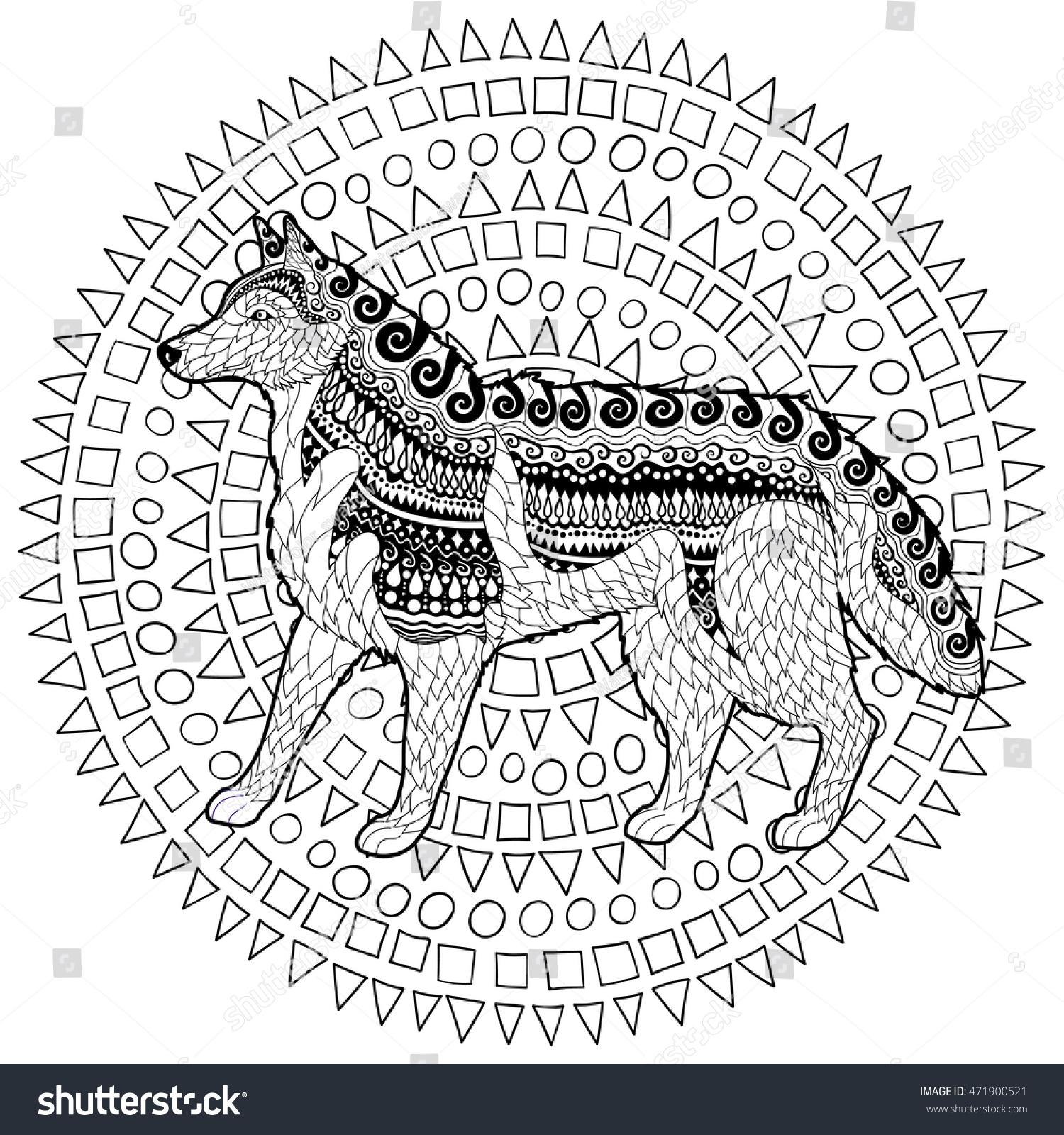 Royalty Free Stock Illustration of Siberian Husky High Details Adult ...