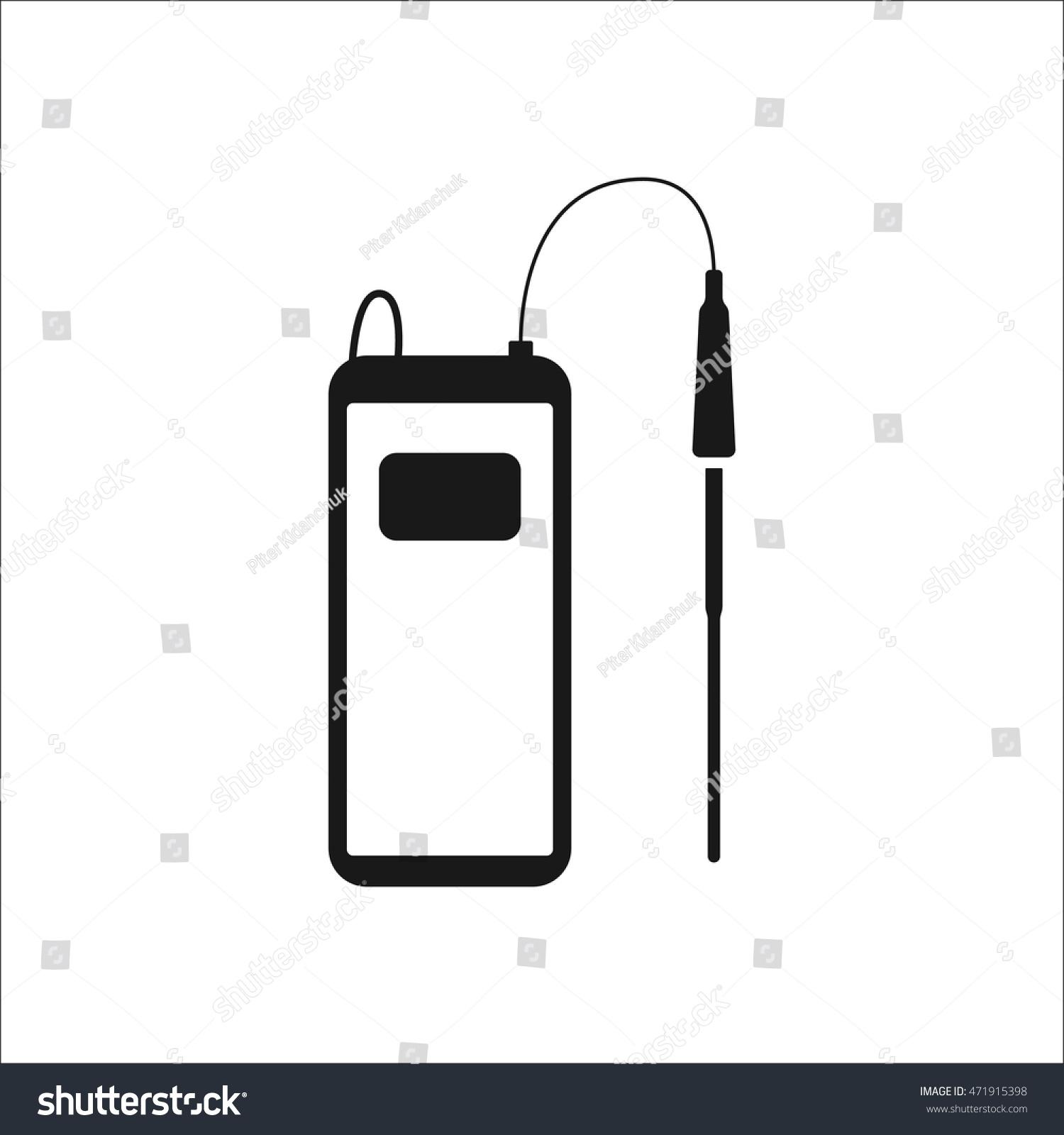 P H Meterchemistry Equipment Symbol Sign Simple Stock Vector ...