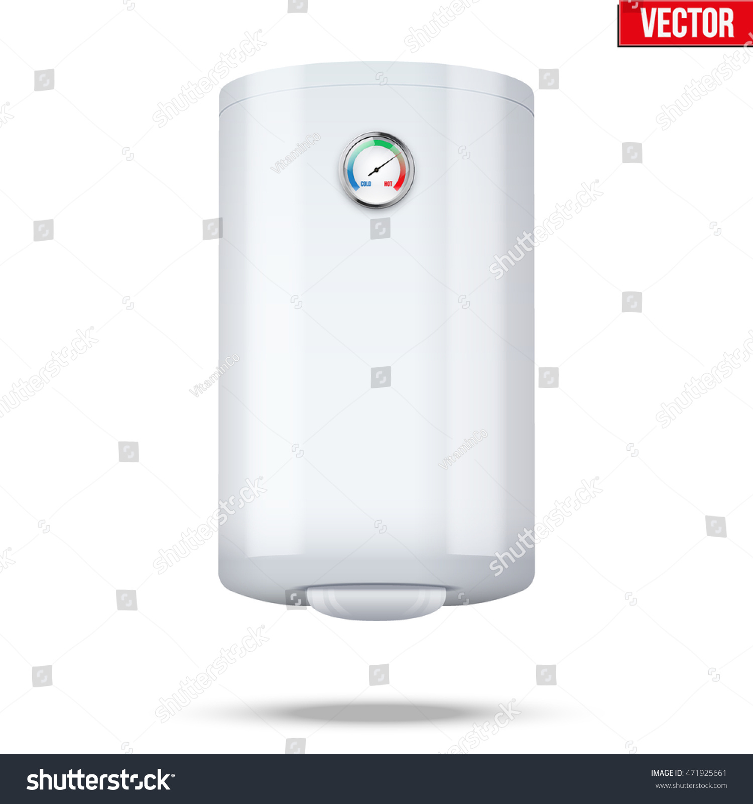 Water classic heater boiler home appliances stock vector Classic home appliance films