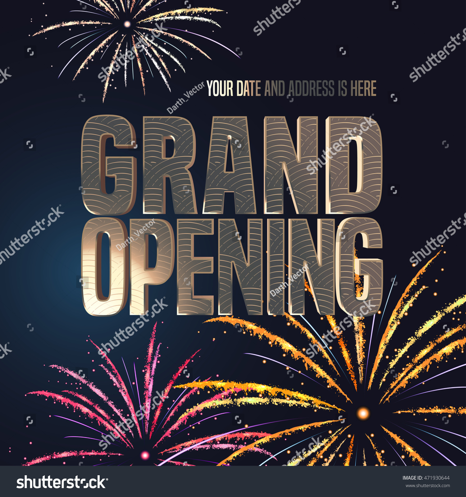 Grand Opening Vector Banner Illustration Template Stock Vector HD ...