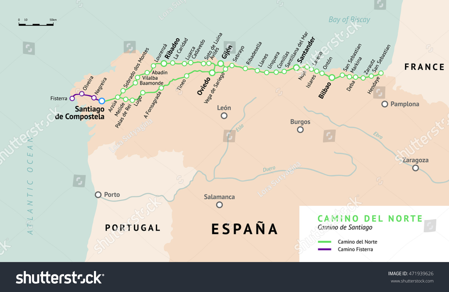 santiago trail spain map with Camino Del Norte Map De Santiago 471939626 on Nadezhda Tolokonnikova furthermore Lisa Kolumna blogspot as well Rutas Camino Santiago also The Meseta To Hontanas moreover Karte.
