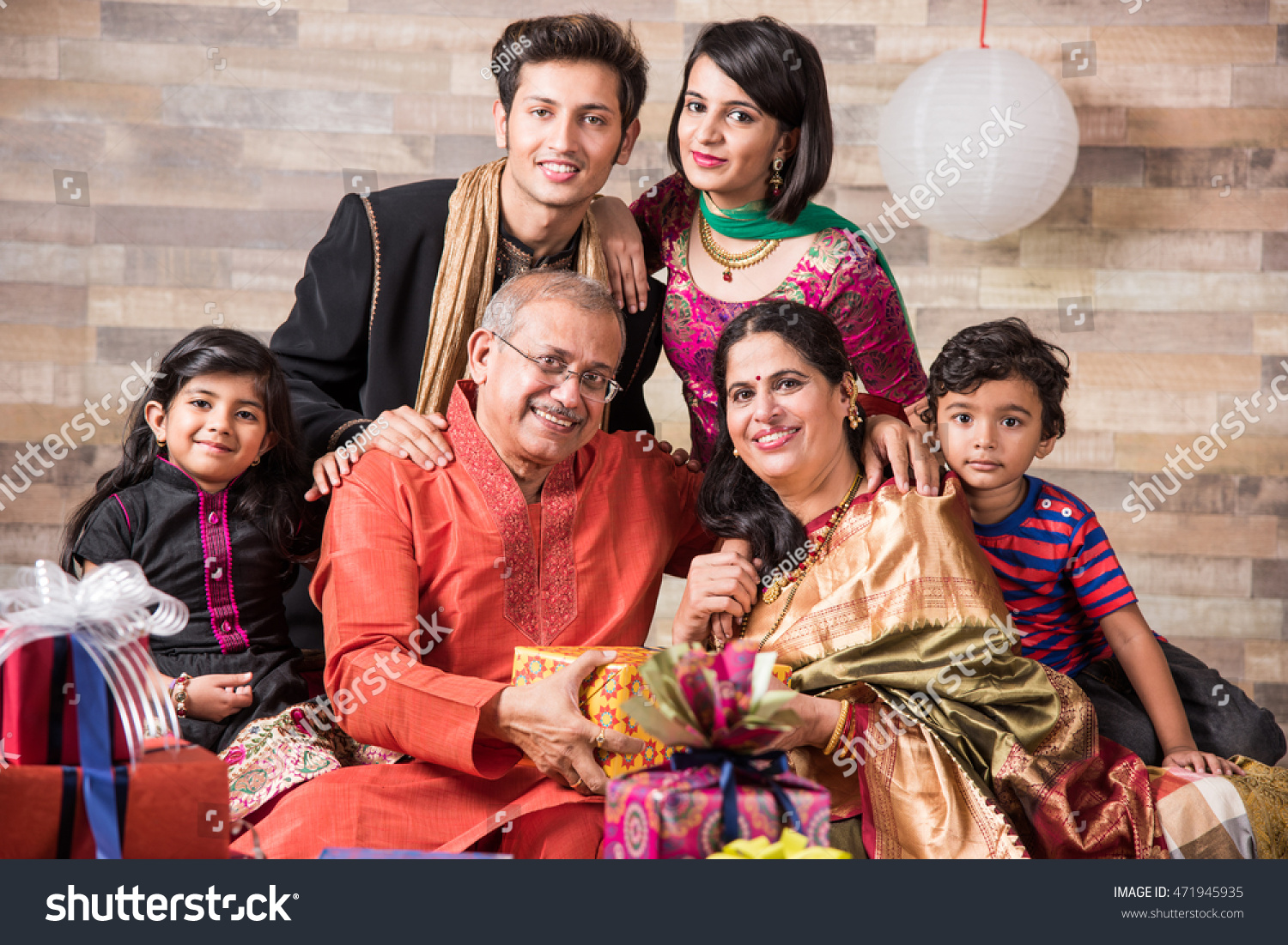 3 Generations Indian Family Celebrating Diwali Stock Photo (Download ... for Diwali Gifts For Family  165jwn