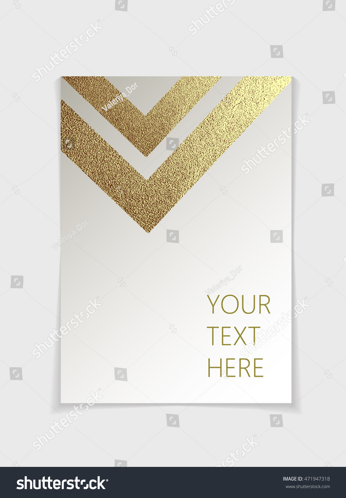 royalty brochure modern gold geometric 471947318 stock brochure modern gold geometric elements cover page design template in a4 size vector