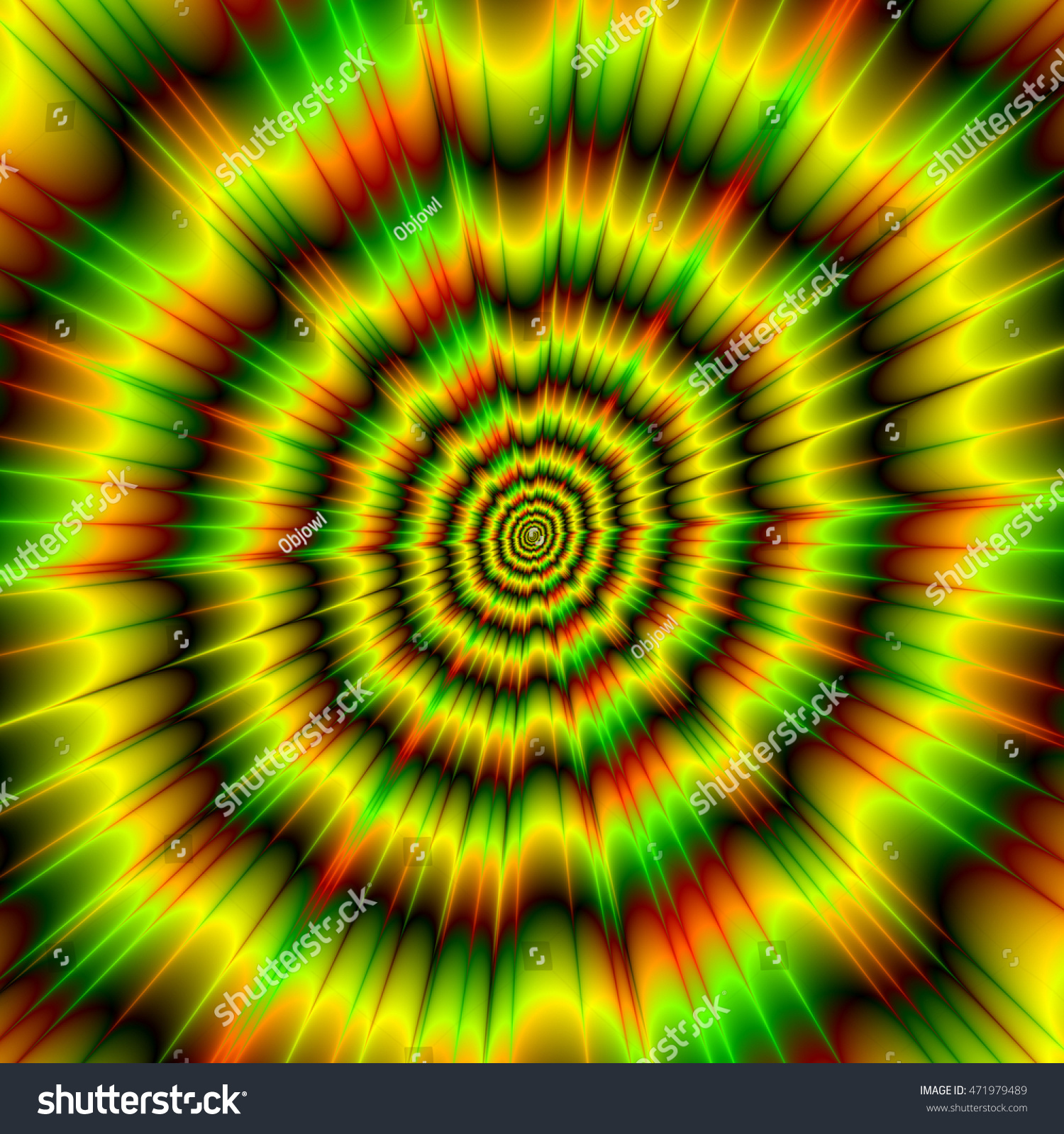 Royalty Free Stock Illustration of Color Explosion Yellow Green Red ...