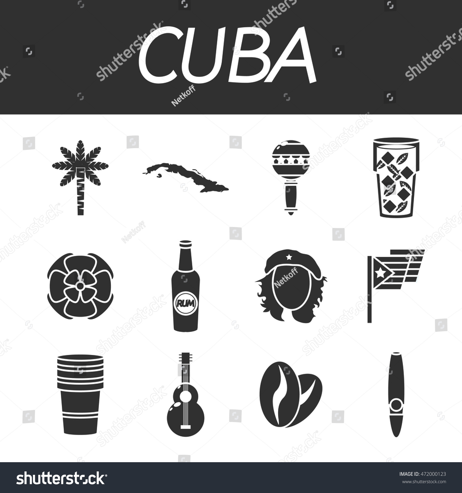 Cuba icon set stock vector 472000123 shutterstock cuba icon set buycottarizona Image collections