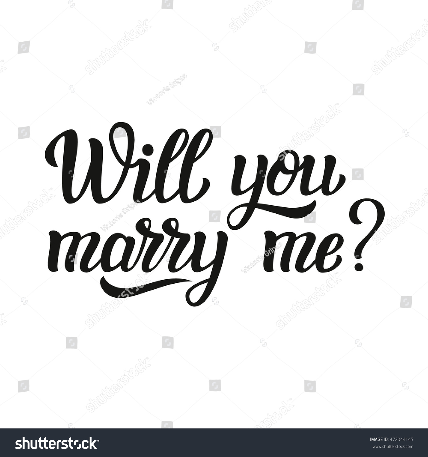 will you marry me hand lettering stock vector 472044145  shutterstock